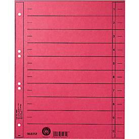 LEITZ® Trennblätter, DIN A4, Zahlen, 100 Stück
