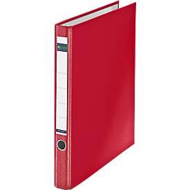 LEITZ® 2D- ringband 1014, A4, 35 mm rugbreedte, PP, rood, stuk