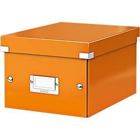LEITZ® Ablage- und Transportbox Serie Click + Store, klein, für DIN A5, orange