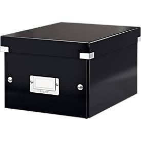 LEITZ® Ablage- und Transportbox Serie Click + Store, klein, für DIN A5, schwarz