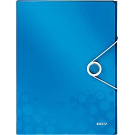 LEITZ® Ablagebox WOW, DIN A4, Gummizugverschluss, PP, blau
