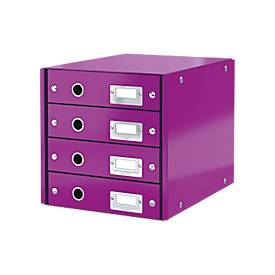 LEITZ® Click + Store, 4 Schubladen, flach, violett