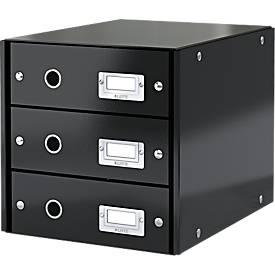LEITZ® Click & Store-ladekast met 3 laden, zwart