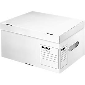 LEITZ® container Infinity voor archiefdozen met scharnierend deksel, S formaat, karton, wit, 10 stuks