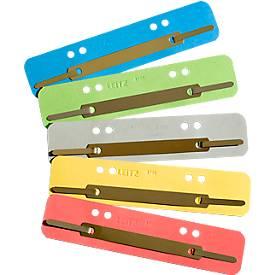 LEITZ® Heftstreifen, Karton, DIN A4, 25 Stück, gelb