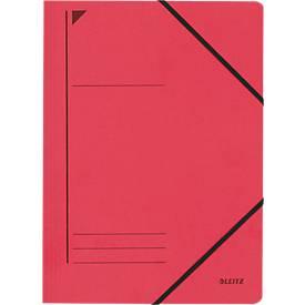 LEITZ® hoekmap, DIN A4, elastische sluiting, rood