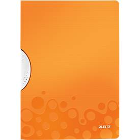 LEITZ® klemmap ColorClip WOW, DIN A4, PP, met clip, oranje, met clip
