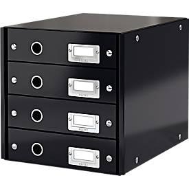 LEITZ® Ladenblok  Click + Store,4 laden, zwart