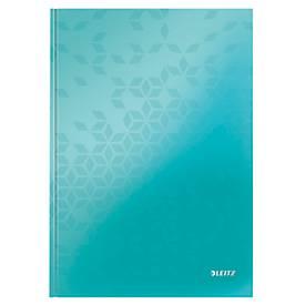 LEITZ Notizbuch WOW 4625, DIN A4, liniert, eisblau