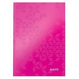 LEITZ Notizbuch WOW 4628, DIN A5, kariert, pink