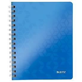 LEITZ Notizbuch WOW 4641, DIN A5, kariert, blau