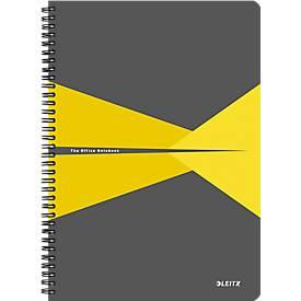LEITZ® Office Collegeblock 464700 DIN A4, laminierter Einband, kariert, gelb