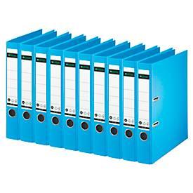 LEITZ® Ordner 1007/1008, DIN A4, Rückenbreite 52 mm, 10 Stück, hellblau