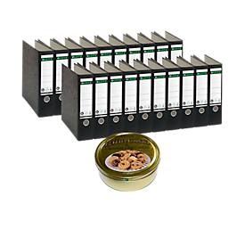 LEITZ® Ordner 1080, DIN A4, 80 mm + GRATIS 1 Dose Buttercookies