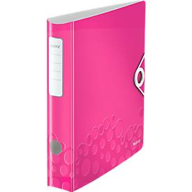 LEITZ® Ordner Active WOW, DIN A4, Rückenbreite 65 mm, pink