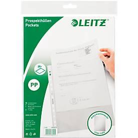 LEITZ Prospekthüllen 4796, DIN A4, oben offen, 25 Stück, genarbt, transparent