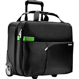 LEITZ® reistrolley Smart Traveller, met draaggreep en wielen,  polyester, zwart