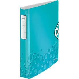 LEITZ® Ringbuch Active Wow Softclick, DIN A4, 4-Ring-Mechanik, Rückenbreite 52 mm, eisblau