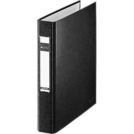LEITZ® Ringbuch, DIN A5, 2-Ring-Mechanik, Rückenbreite 40 mm, schwarz