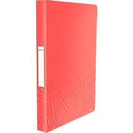 LEITZ® Ringbuch Urban Chic, DIN A4, 2 Rund-Ring Mechanik, Rückenbreite 26mm, rot
