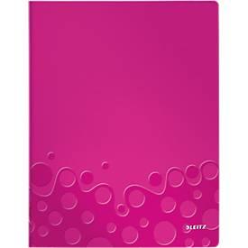 LEITZ Sichtbuch Active Wow, für DIN A4, 20 Hüllen, pink