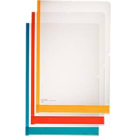 LEITZ Sichthülle Desk Free, mit 3-facher Farbkodierung, 6 Stück
