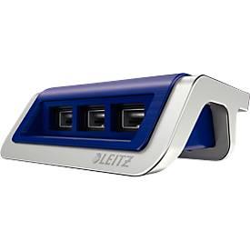 LEITZ® Style USB-oplader, 3 poorten, titaanblauw