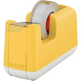 Image of Leitz® Tischabroller für Klebefilm Cosy, für Rollen mit L 33 m x B 19 mm, Füße, inkl. Klebefilmrolle, Kunststoff, gelb