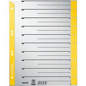 LEITZ® Trennblätter A4 1652, zur freien Verwendung, 100 Stück, gelb