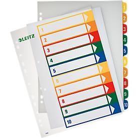 LEITZ® Überbreite Kunststoffregister, Zahlen-Register, Zahlen 1-10,  Nr. 1293