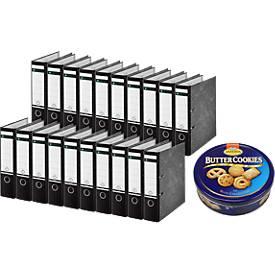 LEITZ® 180°-Standard-Aktenordner 1080, DIN A4, 80 mm + GRATIS 1 Dose Buttercookies