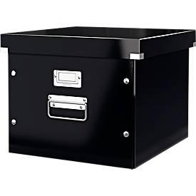 LEITZ® Archivbox Click + Store, für max. 50 Hängekarten, Karton, Etikettenhalter