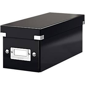 LEITZ® CD Archivbox Click + Store, für min. 30 CDs, Karton, mit Etikettenhalter