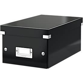 LEITZ® DVD-Archivbox Click + Store, bis max. 44 DVDs, Karton, Etikettenhalter