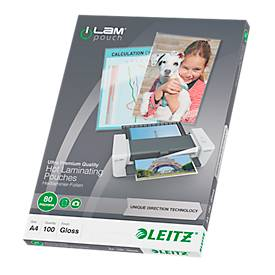 LEITZ® Laminierfolien iLAM, DIN A4, 100 Stück