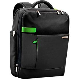 LEITZ® Notebook-Rucksack Smart Traveller, f. 15,6 Zoll Laptops, 2 Haupt- u. 1 Frontfach