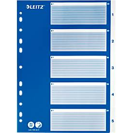 LEITZ® PP-Register mit blauem Deckblatt, A4