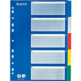 LEITZ® PP-Register mit blauem Deckblatt, diverse Ausführungen, einzeln