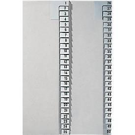 LEITZ® Registerserie 1-25,  Zahlenregister, einzeln