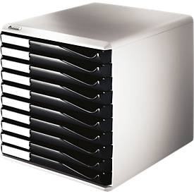 LEITZ® Schubladenbox, 10 Schübe, DIN A4, Polystyrol