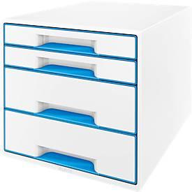 LEITZ® Schubladenbox WOW CUBE 5213, 4 Schübe, DIN A4, Polystyrol
