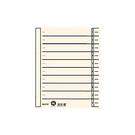 LEITZ® Trennblatt, DIN A4, mit Linienaufdruck, 100 Stück