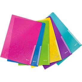 LEITZ® Wow Sichthülle, DIN A4, bis zu 40 Blatt, 6 Stück farbsortiert