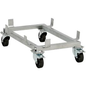 Lenkrollengestell für Standardbehälter, 100 l