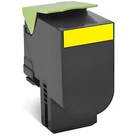 Lexmark 80C2HY0 Tonerkassette gelb