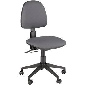 Leyform Bürostuhl JOLLY, Permanentkontakt, ohne Armlehnen, höhenverstellbare Rückenlehne, anthrazit
