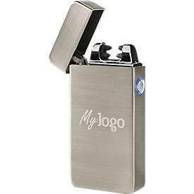 """Lichtbogenfeuerzeug """"FuturePocketTurbo"""", Metall, 170 mAh, inkl. USB-Ladekabel, WAB 40 x 25 mm"""