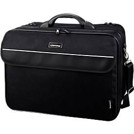 LIGHTPAK® Notebook-Tasche Corniche, f. 17 Zoll Laptops, 3 Fächer, Schultergurt
