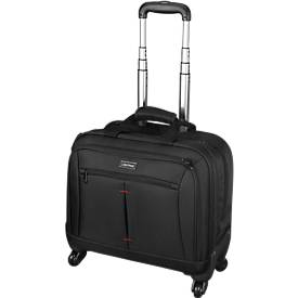 LIGHTPAK® Business Laptop Trolley Star, met draaggreep en wielen, met laptopvak, nylon, zwart