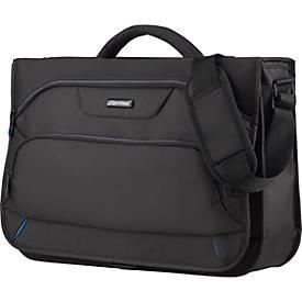 LIGHTPAK Messengerbag  Solar, mit Tragegriff, mit Laptopfach, Polyester, schwarz